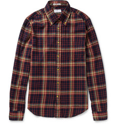 Gant Rugger Button-Down Collar Checked Cotton-Flannel Shirt