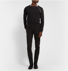 Saint Laurent Zipped Loopback Cotton-Jersey Sweatshirt