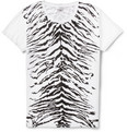 Saint Laurent - Zebra-Pattern Cotton-Jersey T-Shirt