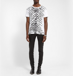 Saint Laurent Zebra-Pattern Cotton-Jersey T-Shirt