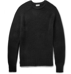 Saint Laurent Crew Neck Wool Sweater