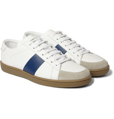 Saint Laurent Panelled Leather Sneakers