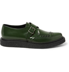 Saint Laurent Leather Monk-Strap Shoes