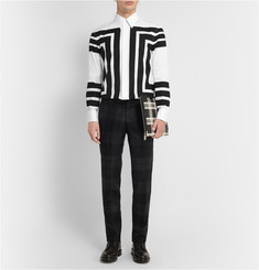 Alexander McQueen Geometric-Print Cotton Shirt