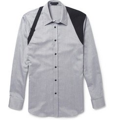 Alexander McQueen Harness-Detailed Herringbone-Weave Cotton Shirt