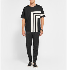 Alexander McQueen Geometric Patterned Cotton-Jersey T-Shirt
