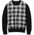Alexander McQueen Woven Silk-Blend and Cotton-Blend Jersey Sweater