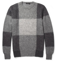 Alexander McQueen Check Mohair and Wool-Blend Sweater
