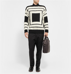 Alexander McQueen Geometric Patterned Wool Sweater