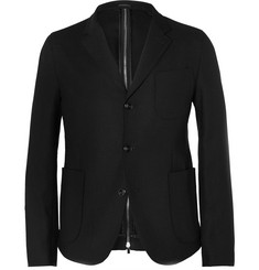 Alexander McQueen Slim Fit Zip-Back Wool Blazer
