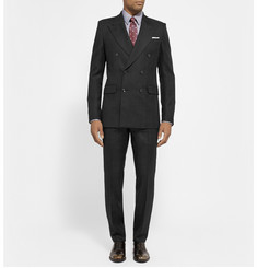 Alexander McQueen Slim-Fit Wool-Twill Double-Breasted Blazer