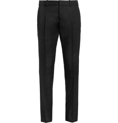 Alexander McQueen Slim-Fit Check Wool-Twill Trousers