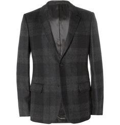 Alexander McQueen Grey Slim-Fit Check Wool Suit Jacket