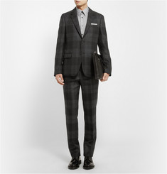 Alexander McQueen Grey Slim-Fit Wool Suit Trousers