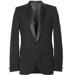 Alexander McQueen Slim-Fit Satin-Trimmed Wool Tuxedo Jacket