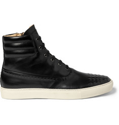Alexander McQueen Leather High Top Sneakers
