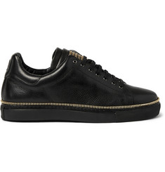 Alexander McQueen Zip-Embellished Leather Low-Top Sneakers