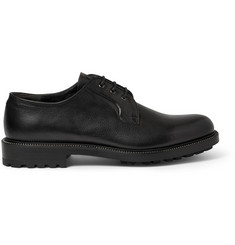Alexander McQueen Zip-Trimmed Leather Derby Shoes