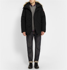 Canada Goose Chateau Coyote-Trimmed Down-Filled Parka
