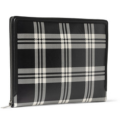 Alexander McQueen Checked Leather Pouch