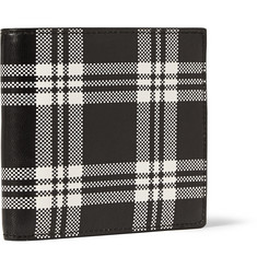 Alexander McQueen Check Leather Billfold Wallet