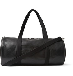 Saint Laurent Full-Grain Leather Holdall Bag