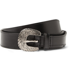 Saint Laurent Black 3cm Leather Belt