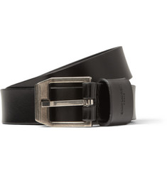 Saint Laurent Black 2.5cm Leather Belt
