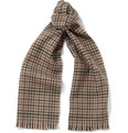 Saint Laurent Check Wool Scarf