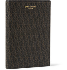 Saint Laurent Printed Textured-Leather Passport Cover