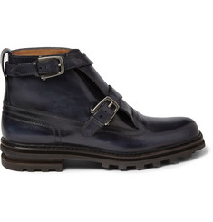 Berluti Double-Strap Leather Boots