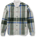 Tim Coppens - Check Brushed-Wool Bomber Jacket