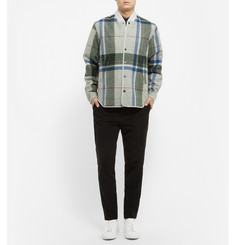 Tim Coppens Check Brushed-Wool Bomber Jacket
