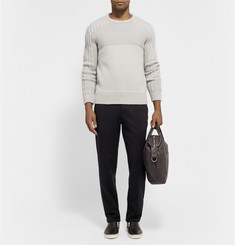 Tim Coppens Panelled-Knit Merino Wool and Cashmere-Blend Sweater