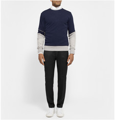 Tim Coppens Colour-Block Jersey and Mesh Sweatshirt