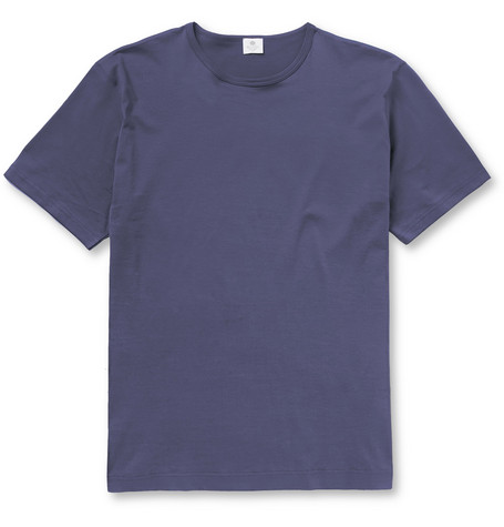 Sunspel Cotton-Jersey Crew Neck T-Shirt