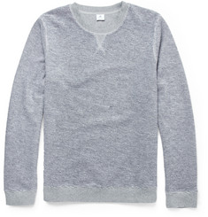 Sunspel Mélange-Knit Loopback Cotton Sweater