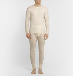 Sunspel Wool and Silk-Blend Thermal T-Shirt