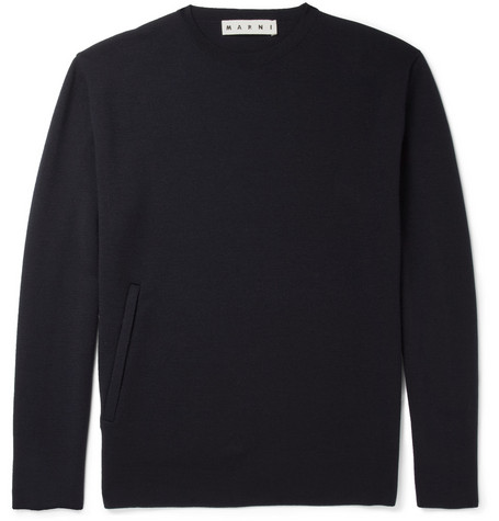 Marni Pocket-Front Wool Sweater