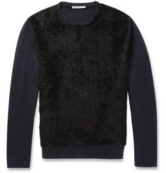 Marni Alpaca-Panelled Cotton-Blend Jersey Sweatshirt
