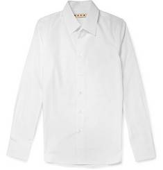 Marni White Slim-Fit Cotton Shirt
