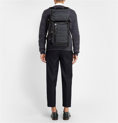 Marni Leather-Trimmed Lightly-Quilted Backpack