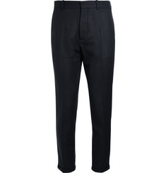 Marni Slim-Fit Cropped Wool-Blend Trousers