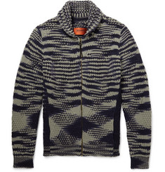 Missoni Striped Cashmere and Wool-Blend Cardigan
