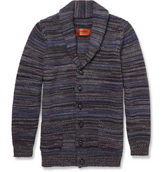 Missoni Knitted Wool-Blend Shawl-Collar Cardigan