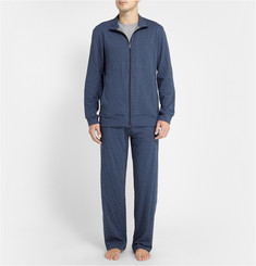 Zimmerli Cotton and Cashmere-Blend Lounge Set