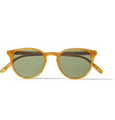 Garrett Leight California Optical Milwood Round-Frame Acetate Sunglasses