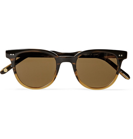 Garrett Leight California Optical Angelus D-Frame Tortoiseshell Acetate Sunglasses