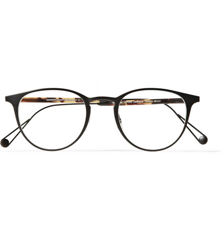 Garrett Leight California Optical Oxford Round-Frame Titanium and Acetate Optical Glasses