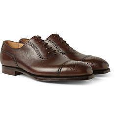 George Cleverley Adam Polished Scotch-Grain Leather Oxford Brogues